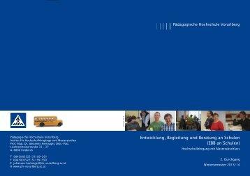 Entwicklung, Begleitung und Beratung an Schulen 2013 2.indd