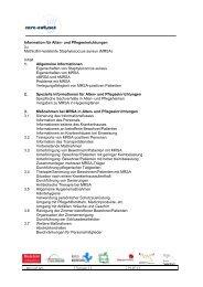 Informationen für Alten- und Pflegeeinrichtungen - MRE-OWL.net