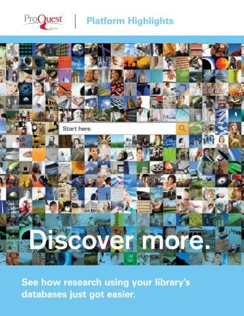 ProQuest - New Platform Brochure | (PDF)