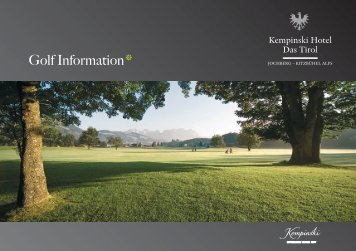 Golf Information - Kempinski Hotels