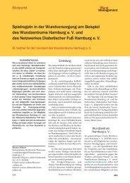 Spielregeln in der Wundversorgung am Beispiel ... - Werner Sellmer