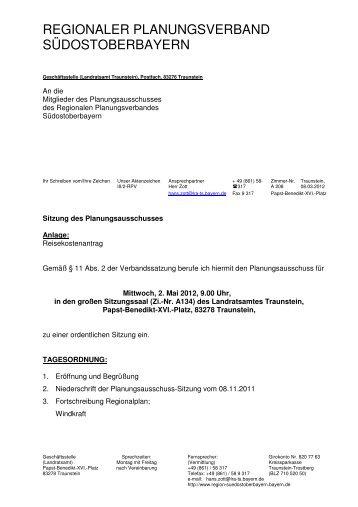Einladung/Tagesordnung - Regionaler Planungsverband ...