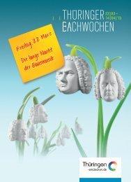 Thüringer Bachwochen 2014
