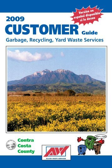 Customer Guide - Allied Waste Services of Contra Costa County