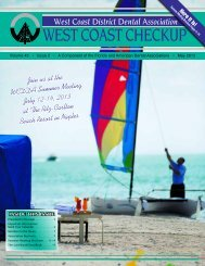 May 2013 - West Coast Dental Association