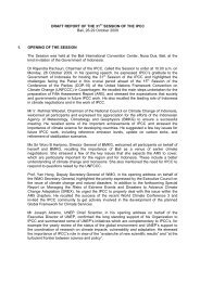 DRAFT REPORT OF THE 31ST SESSION OF THE IPCC Bali, 26-29 ...