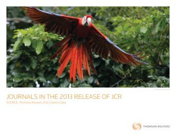 Journals in the 2013 release of JCr - Thomson Reuters