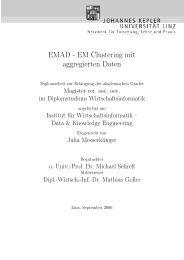 EMAD - EM Clustering mit aggregierten Daten - Data & Knowledge ...