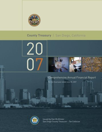 County Treasury - County of San Diego Treasurer - Tax Collector