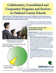 Collaborative, Consolidated and Cooperative ... - Oakland Schools