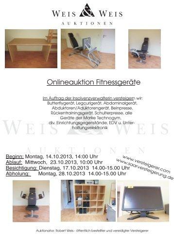 Insolvenzversteigerung - Büromöbel + Bürotechnik - Weis und Weis ...