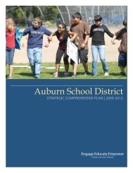 2009-12 Auburn School District Strategic Improvement Plan