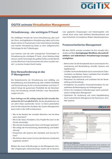 Ogitix unimate Virtualization Management - Centracon
