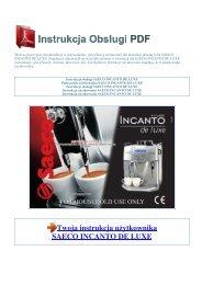 Instrukcja obsługi SAECO INCANTO DE  LUXE - 1