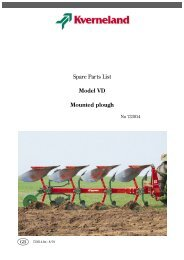 Spare Parts List Model VD Mounted plough - Hjallerup ...