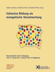 Inklusive Bildung als evangelische Verantwortung - Comenius ...