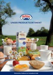unser produktsortiment - Hohenloher Molkerei eG Schwäbisch Hall
