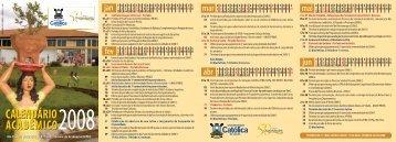 Veja o calendário completo - Ucg