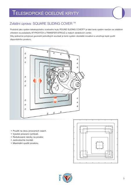 Katalog - Speciální teleskopické ocelové kryty - VeeM TRADING sro