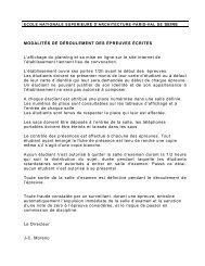 MODALITÉS DE DÉROULEMENT DES ÉPREUVES ÉCRITES L ...
