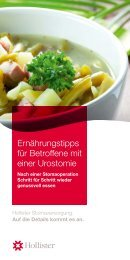 Ernährungshinweise Urostomie - Hollister Incorporated