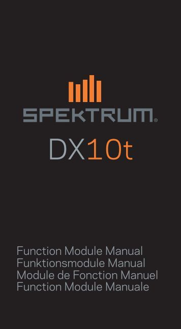Function Module Manual Funktionsmodule Manual ... - Spektrum