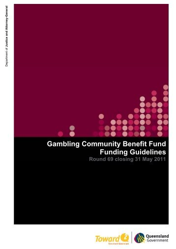 GCBF Round 69 funding guidelines closing 31 May 2011