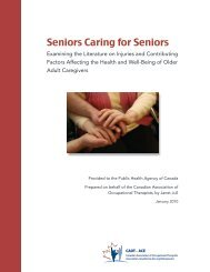 Seniors Caring for Seniors - Canadian Association of Occupational ...