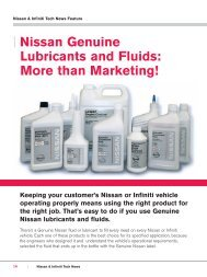   Nissan Genuine Lubricants and Fluids: More than Marketing ...
