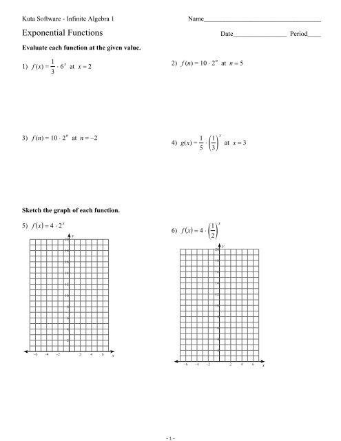 Exponential Functions.ks-ia1 - Kuta Software