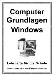 Lehrhefte für die Schule - Computerbildung