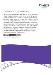 ProCurve Switch 6200yl-24G-mGBIC