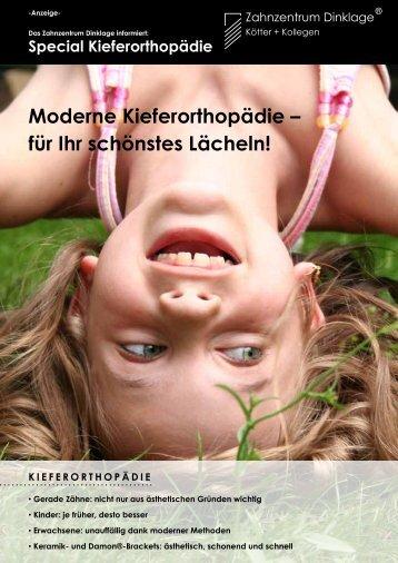 Flyer Kieferorthopädie - Zahnzentrum Dinklage Kötter + Kollegen