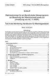 Entwurf Rahmenkonzept für ein Bund/Länder ... - MSRL