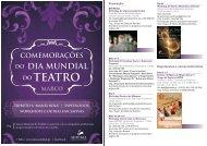 Dia Mundial do Teatro - Câmara Municipal de Setúbal