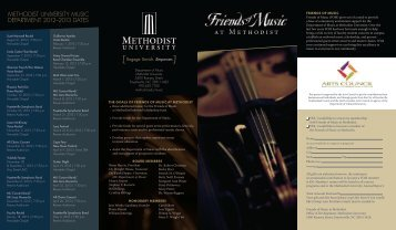 Friends of Music - Methodist University