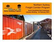 Northern Sydney Freight Corridor Program - Transport for NSW