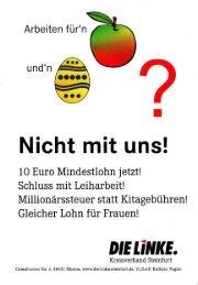 Nicht mit uns! - DIE LINKE. Kreisverband Steinfurt