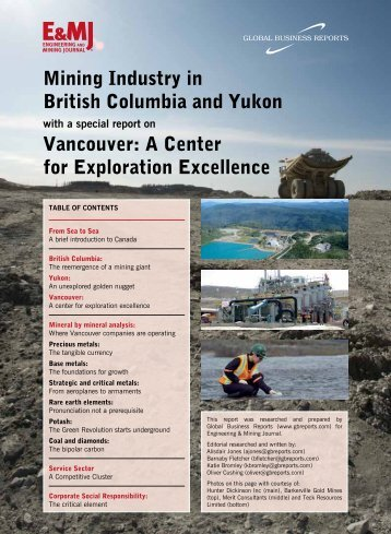 Mining Industry in British Columbia and Yukon Vancouver: A ... - GBR