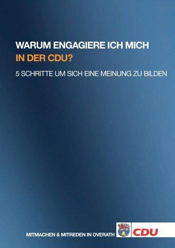WARUM ENGAGIERE ICH MICH IN DER CDU? - CDU Overath