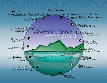 American Samoa Lunar Calendar - Western Pacific Fishery Council