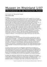Zur Situation der Rheinischen Museen - RheinischeMuseen.de ...
