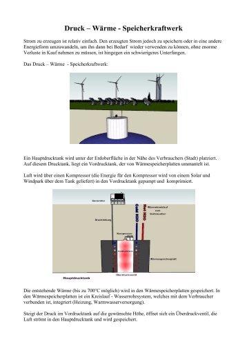 Druck – Wärme - Speicherkraftwerk - LEDshift