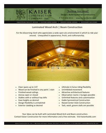 Laminated Wood Brochure (PDF) - Custom Horse Barn Builder ...