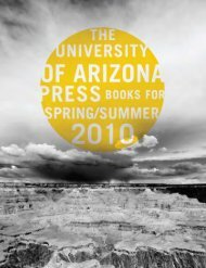 Spring/Summer 2010 - The University of Arizona Press