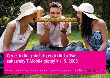 2009 květen Ceník tarifů a služeb pro tarifní a Twist ... - T-Mobile