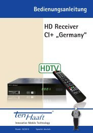"HD Receiver CI+ ""Germany"" - ten Haaft GmbH"