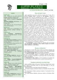 Mardi 1er avril 2008 - Académie des sciences morales et politiques
