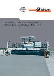 Gleitschalungsfertiger SP 850 - Wirtgen GmbH