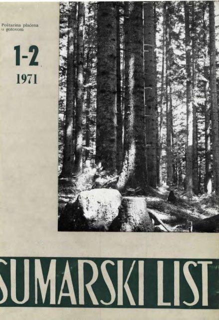 ÅUMARSKI LIST 1-2/1971